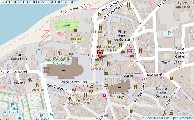 plan Musee Toulouse-lautrec Albi