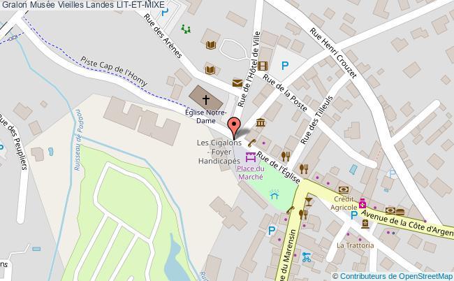 plan association Musée Vieilles Landes Lit-et-mixe LIT-ET-MIXE