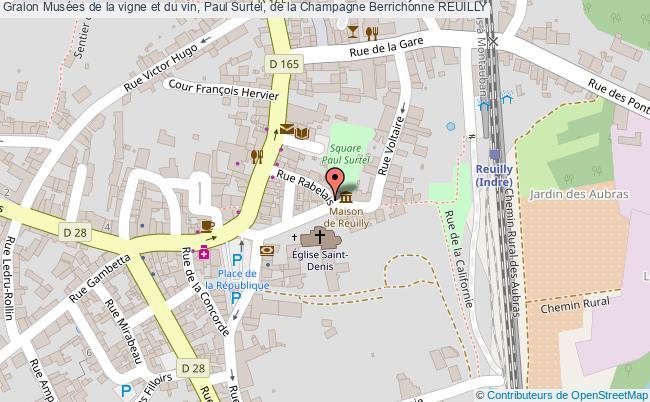 plan Musées De La Vigne Et Du Vin, Paul Surtel, De La Champagne Berrichonne Reuilly