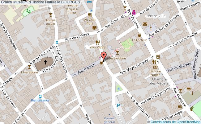 plan Muséum D'histoire Naturelle Bourges