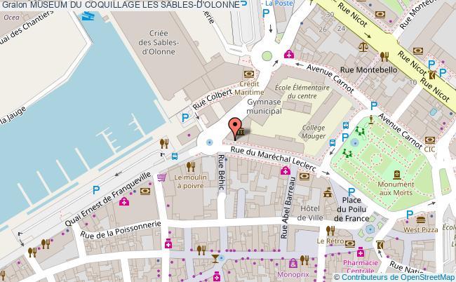 plan association Museum Du Coquillage Les Sables-d'olonne LES SABLES-D'OLONNE