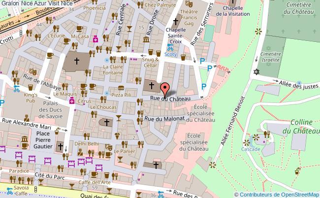 plan Nice Azur Visit Nice