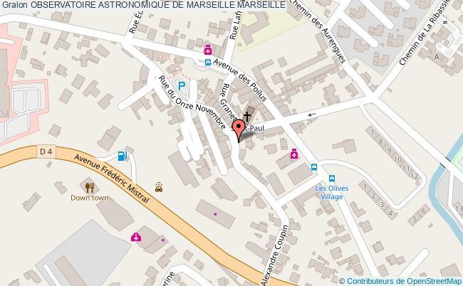 plan Observatoire Astronomique De Marseille Marseille