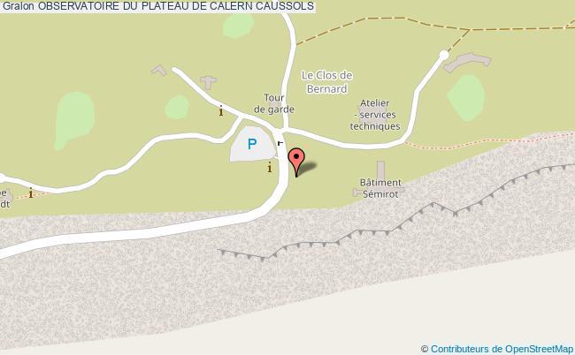 plan Observatoire Du Plateau De Calern Caussols