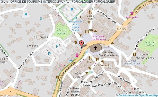 plan Office De Tourisme Intercommunal - Forcalquier Forcalquier