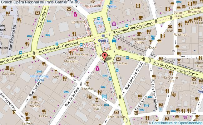 plan Opéra National De Paris Garnier Paris