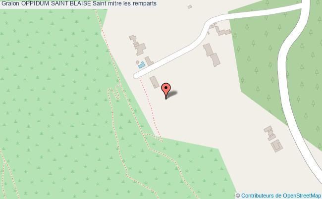 plan Oppidum Saint Blaise Saint Mitre Les Remparts