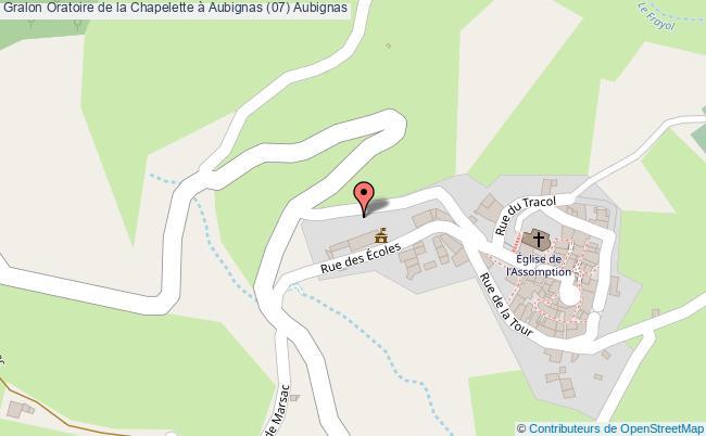 plan Oratoire De La Chapelette à Aubignas (07) Aubignas