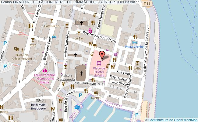 plan Oratoire De La Confrerie De L'immaculee-conception Bastia