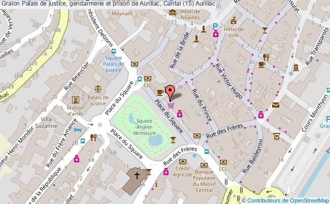 plan Palais De Justice, Gendarmerie Et Prison De Aurillac, Cantal (15) Aurillac