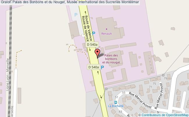 plan Palais Des Bonbons Et Du Nougat, Musée International Des Sucreries Montélimar