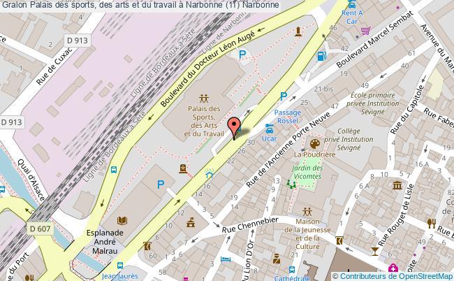 plan Palais Des Sports, Des Arts Et Du Travail à Narbonne (11) Narbonne