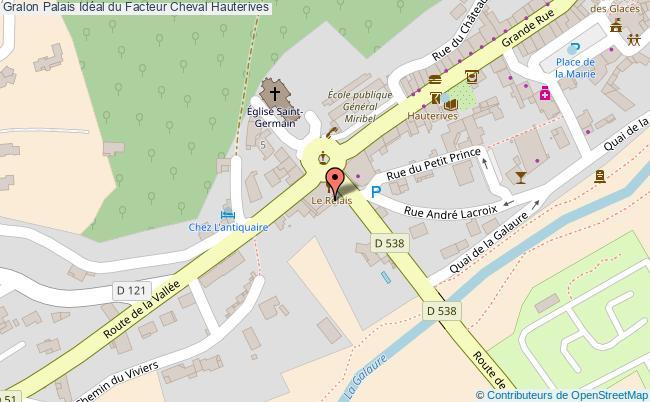 plan association Palais Idéal Du Facteur Cheval Hauterives Hauterives