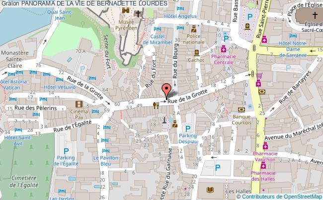 plan Panorama De La Vie De Bernadette Lourdes