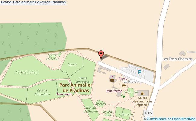 plan Parc Animalier Aveyron Pradinas