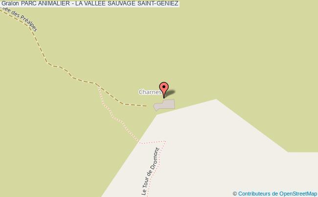 plan Parc Animalier - La Vallee Sauvage Saint-geniez