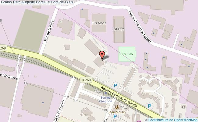 plan Parc Auguste Borel Le Pont-de-claix