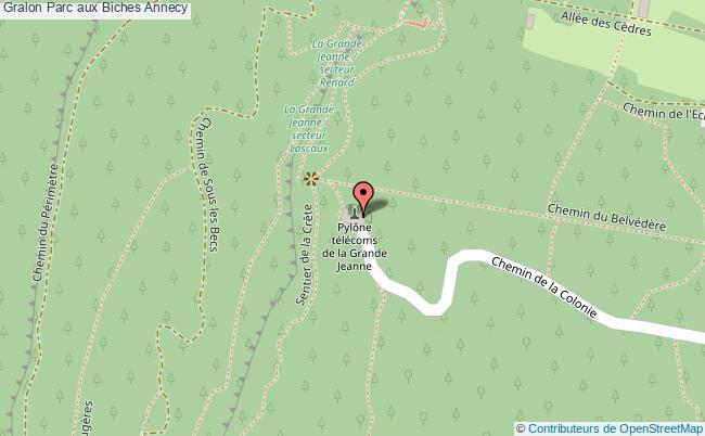 plan Parc Aux Biches Annecy