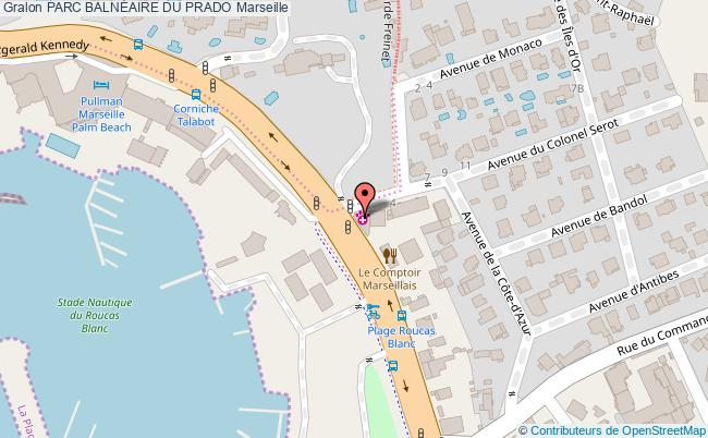 plan Parc BalnÉaire Du Prado Marseille