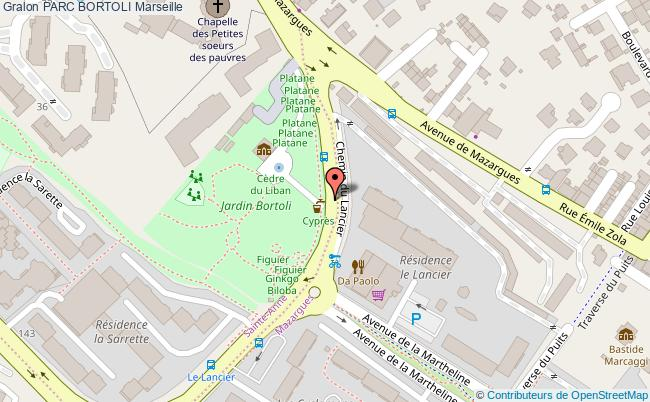 plan Parc Bortoli Marseille