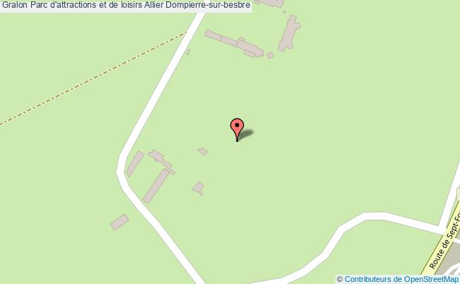 plan Parc D'attractions Et De Loisirs Allier Dompierre-sur-besbre