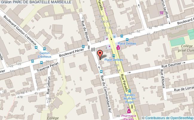 plan Parc De Bagatelle Marseille