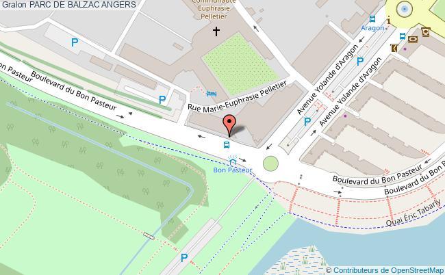 plan Parc De Balzac Angers