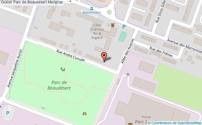 plan association Parc De Beaudésert Merignac Merignac
