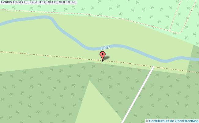 plan Parc De Beaupreau Beaupreau