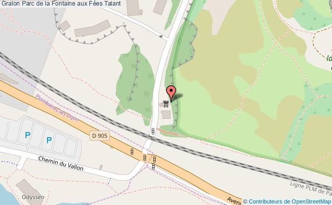plan association Parc De La Fontaine Aux Fées Talant Talant