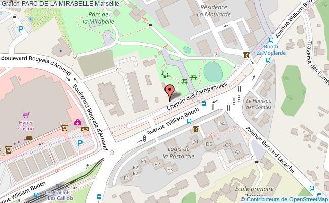 plan Parc De La Mirabelle Marseille