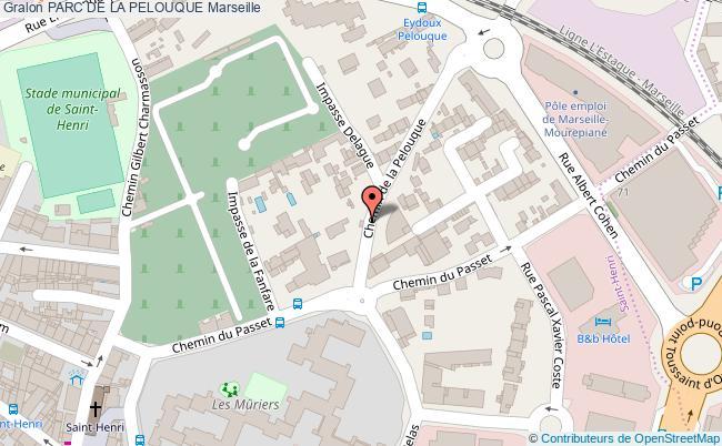 plan Parc De La Pelouque Marseille