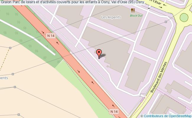 plan association Parc De Loisirs Et D'activités Couverts Pour Les Enfants à Osny, Val D'oise (95) Osny Osny
