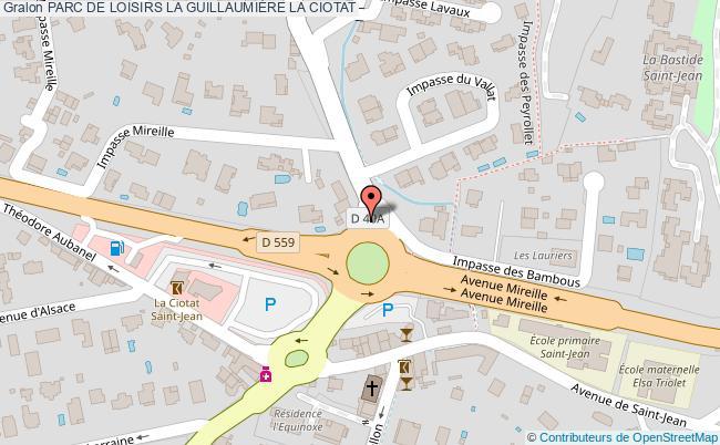 plan Parc De Loisirs La GuillaumiÈre La Ciotat