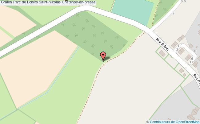 plan Parc De Loisirs Saint-nicolas Châtenoy-en-bresse