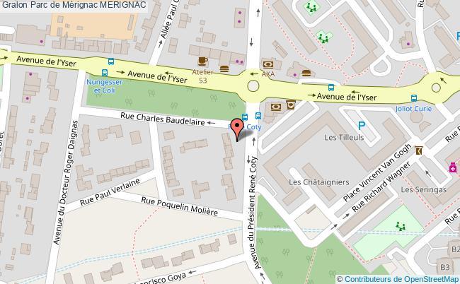 plan association Parc De Mérignac Merignac MERIGNAC