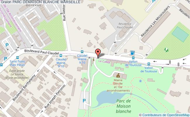 plan Parc Demaison Blanche Marseille