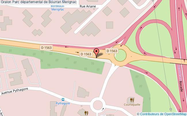plan Parc Départemental De Bourran Merignac