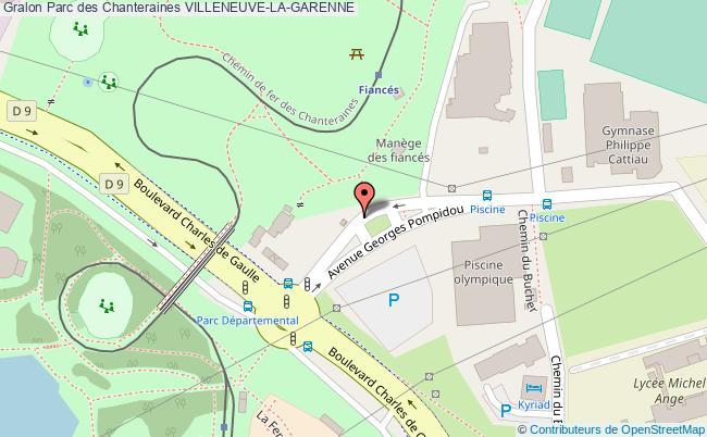 plan Parc Des Chanteraines Villeneuve-la-garenne
