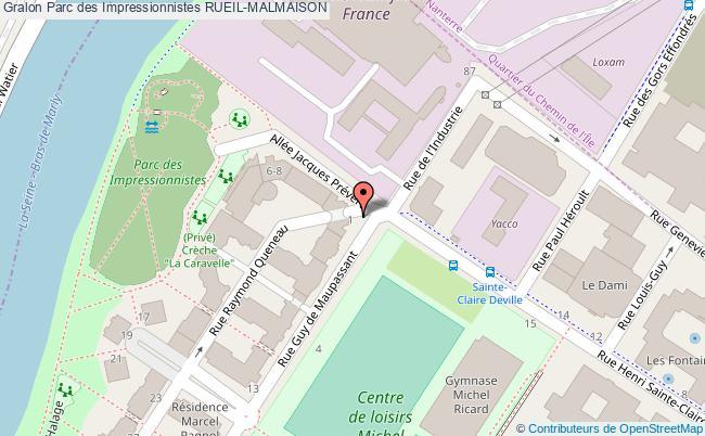 plan Parc Des Impressionnistes Rueil-malmaison