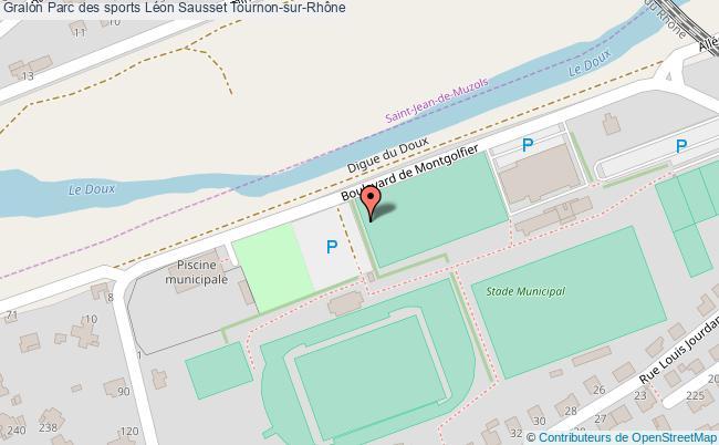 plan association Parc Des Sports Léon Sausset Tournon-sur-rhône Tournon-sur-Rhône