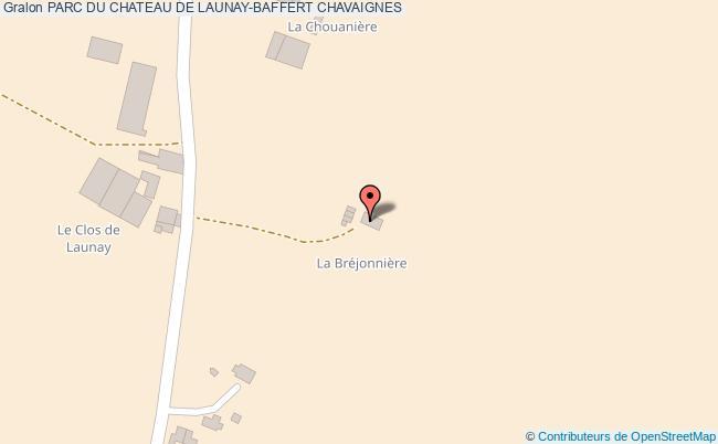 plan association Parc Du Chateau De Launay-baffert Chavaignes CHAVAIGNES