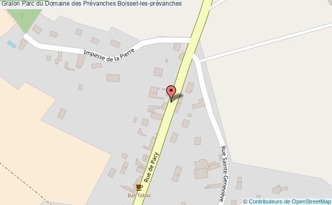 plan Parc Du Domaine Des Prévanches Boisset-les-prévanches