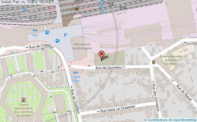plan Parc Du Thabor Rennes