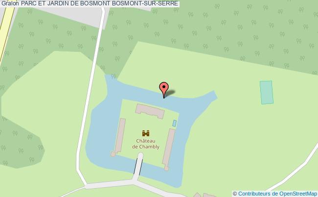 plan Parc Et Jardin De Bosmont Bosmont-sur-serre