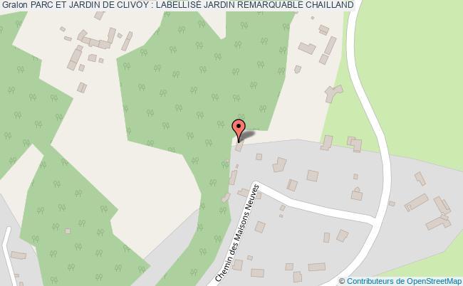 plan association Parc Et Jardin De Clivoy : LabellisÉ Jardin Remarquable Chailland CHAILLAND