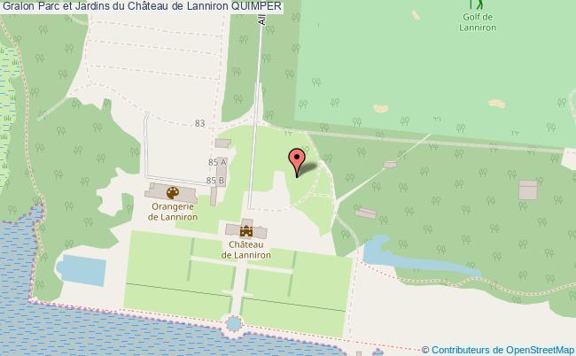 plan Parc Et Jardins Du Château De Lanniron Quimper
