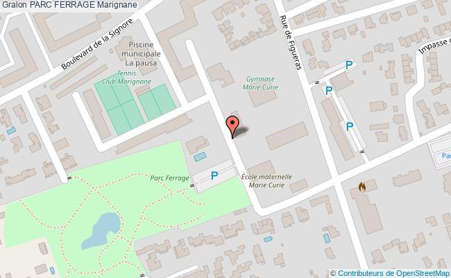 plan Parc Ferrage Marignane