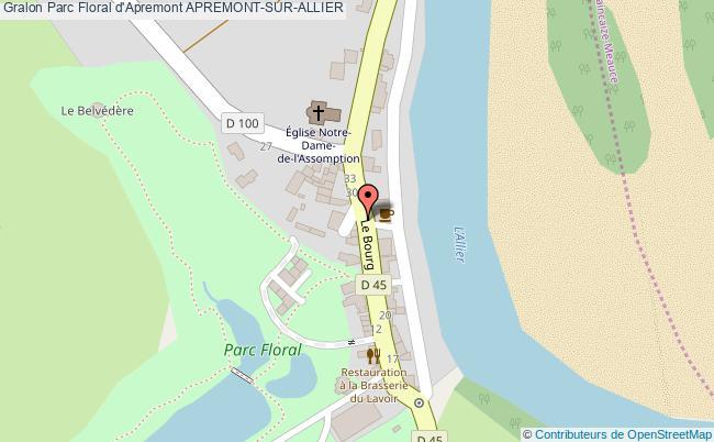 plan Parc Floral D'apremont Apremont-sur-allier