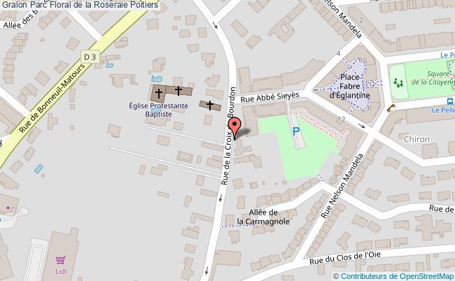 plan association Parc Floral De La Roseraie Poitiers Poitiers